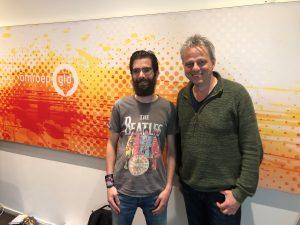 Photo of me and Klaas Drupsteen at Omroep Gelderland